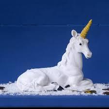 kitsch sparkle unicorn ornament by thelittleboysroom
