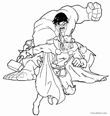 coloring pages of the avengers printable thor coloring pages for kids cool2bkids