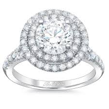 baby engagement rings images Round baby split double halo engagement ring jpg