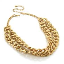 gold necklace chunky chain images Hunt or dye chunky chain matte gold necklace jpg