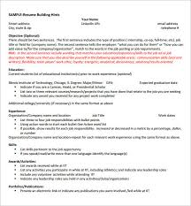 internship resume template u2013 11 free samples examples psd