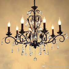Rustic Candle Chandeliers Rustic Lighting Retro Chandelier Black Iron Dining Room Culb Bar