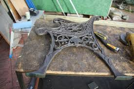 wrought iron bench ends how to restore a cast iron bench by new wood and painting