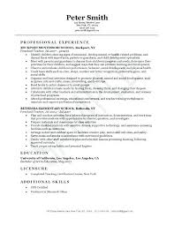 Free Teacher Resume Templates Sample Teacher Resume Format Substitute Teacher Resume Example