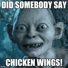Chicken Wing Meme - gollum meme imgflip