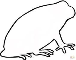 toad outline coloring page free printable coloring pages