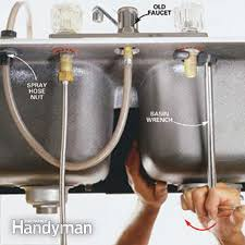how to replace a kitchen sink faucet replacing kitchen sink faucet contemporary replace captivating