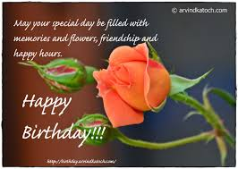 happy birthday rose card may your special day be filled with