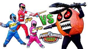 power ranger halloween costumes for kids power rangers dino charge vs giant orange potato youtube