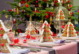 Blue Christmas Table Decoration Ideas by Simple Design Lavish Christmas Decorating Dining Table