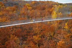 fall aerial picture scenic caves nature adventures blue