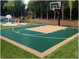 Backyard Basketball Court Backyards Cozy Outdoor Bounceback Backyard Basketball Court 36