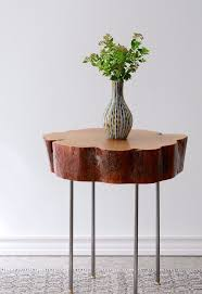 wood slice end table tutorial tree slice side table with diy legs made of l pipe