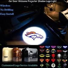 2x wireless car door projector denver broncos logo puddle shadow