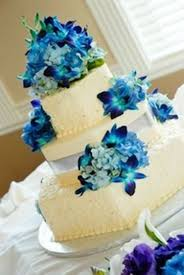 wedding cake with blue orchids best ideas about wedding cake