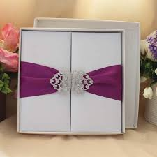 royal wedding cards royal silk wedding invitation card with purple silk ribbon and