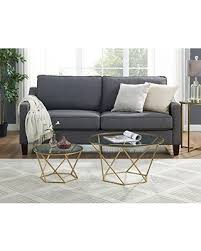 gold nesting coffee table find the best savings on we furniture geometric glass nesting coffee