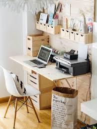 faire un bureau en bois fabriquer un bureau avec un plan de travail amnager un coin bureau
