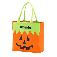 personalized trick or treat bag halloween tote gifts happen here