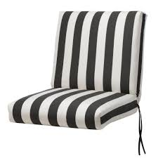 Dining Chair Back Cushions Home Decorators Collection Sunbrella Maxim Classic Stripe Outdoor