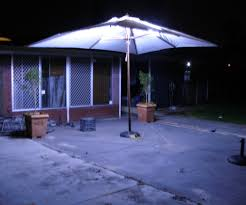 Patio Umbrellas With Led Lights Outdoor Umbrella Lighting