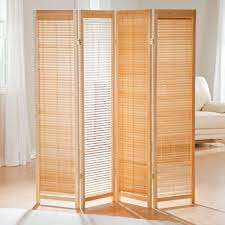 Nexxt By Linea Sotto Room Divider 4 Panel Room Divider Wooden Shutter Freestanding Folding Screen
