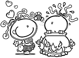 bubblegum kids fire coloring wecoloringpage