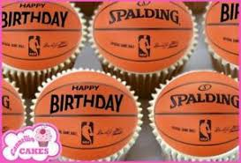 basketball cake toppers 24 x mixed birthday basketball edible cupcake toppers rice cake