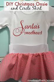 christmas onesie and circle skirt for baby christmas onesie