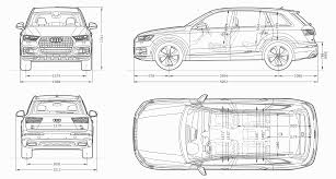 Audi Q7 2015 - audi q7 2015 blueprint download free blueprint for 3d modeling