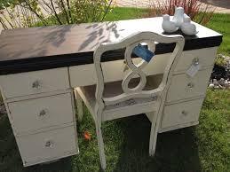 antique white desk set med art home design posters