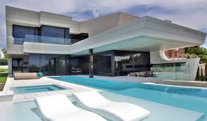 futuristic home in madrid spain