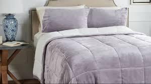 Purple Velvet Comforter Sets Queen Berkshire Queen Velvet Soft Reverse To Sherpa Comforter Set Page