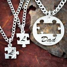 puzzle love necklace images Dad love his kids 3 piece initials and puzzles necklaces namecoins jpg