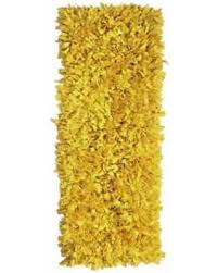 Shaggy Runner Rug Spectacular Deal On Knotted Jersey Yellow Shaggy Cotton