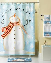 Themed Shower Curtains Well Suited Winter Themed Shower Curtains Bathroom Wonderful