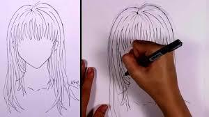 how to draw manga long hair mlt youtube