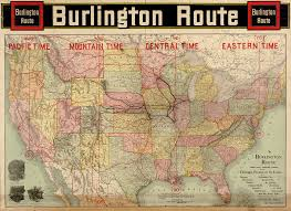 Us Time Zones Maps by File Burlington Route Map 1892 Png Wikimedia Commons