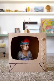 Making A Simple Toy Box by Diy Cardboard Tv Diy Pinterest Diy Cardboard Cardboard