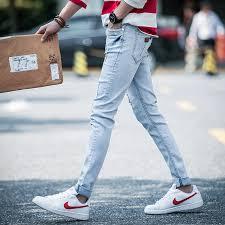 mens light blue jeans skinny men light blue jeans 2017 men s spring style skinny denim jeans