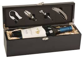 wine set gifts wine presentation box with tools