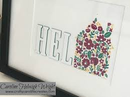 craftycarolinecreates hidden letters home decoration with home
