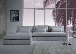 Sectional Sofa Grey Modern Light Grey Fabric Sectional Sofa