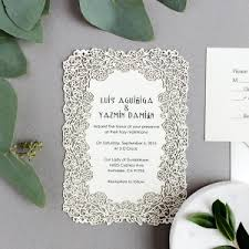 designer wedding invitations laser cut wedding invitations