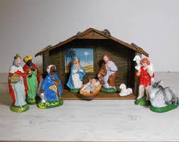 home interior nativity set vintage nativity set etsy