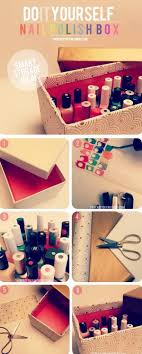 smart organizer for your nail polishes get a shoe box decorated by anyway as you