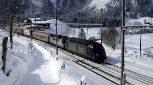 072 bls kandersteg station bahnhof winter 2005 snow lots of