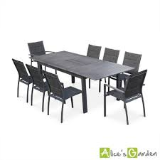 Table Bois Rallonges Integrees by Salon De Jardin 8 Places Table à Rallonge Extensible 175 245cm Alu