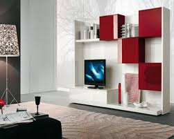 living wall unit furniture living room white painted storage