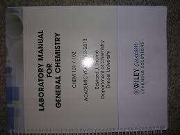 laboratory manual for general chemistry 2012 2013 edward j